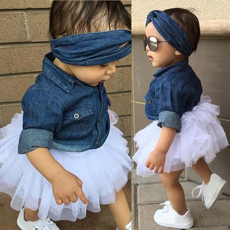 e71f10d1c36 HTB1s0PORVXXXXbmXVXXq6xXFXXXk - 3PCS Toddler Kids Baby Girl Clothes Set  Denim Tops T-shirt +Tutu