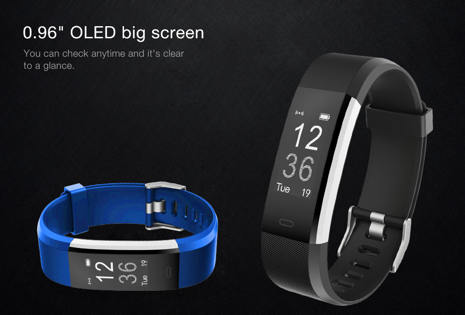 Torntisc ID115HR PLUS Sports Smartwatch With Heart Rate Monitor And Fitness Tracker for iOS Android 5