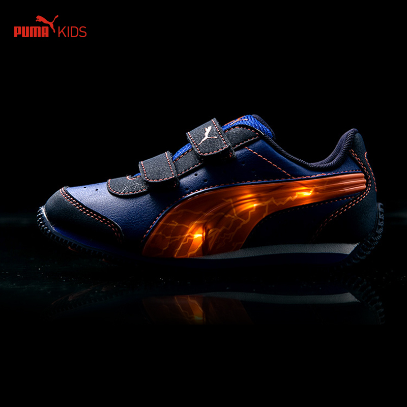 1934166694f PUMA Kids Shoe Children Boys Girls Paillette Luminous SPEED LIGHT UP V Hook  Loop Flat Casual Sport Baby Toddlers Brand Sneakers on Aliexpress.com