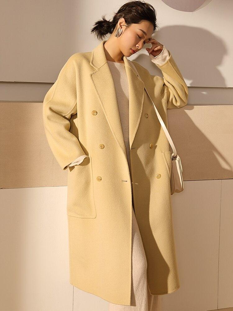 Lâche De Fourrure 100Laine Vêtements Longue Jaune Femmes Mode Conception Des Réel 81129d Automne Livraison Npi Hiver Manteau Gratuite f7Yv6ybg