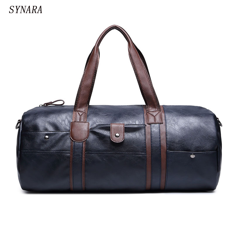 High Quality Small Business Men leather travel duffle bag sac de voyage Cossbody Men Bag ...
