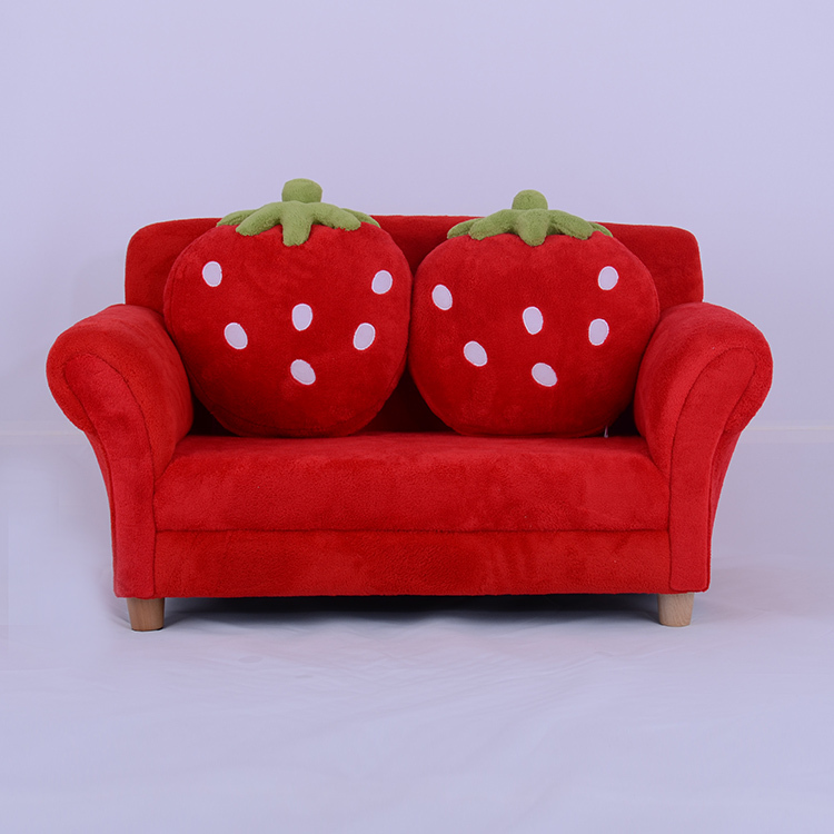 Kids Toddlers Sofa Lounge Couch Strawberry Double Seat Children Sofa Red Or  Pink Colour In Children Chairs From Furniture On Aliexpress.com | Alibaba  Group