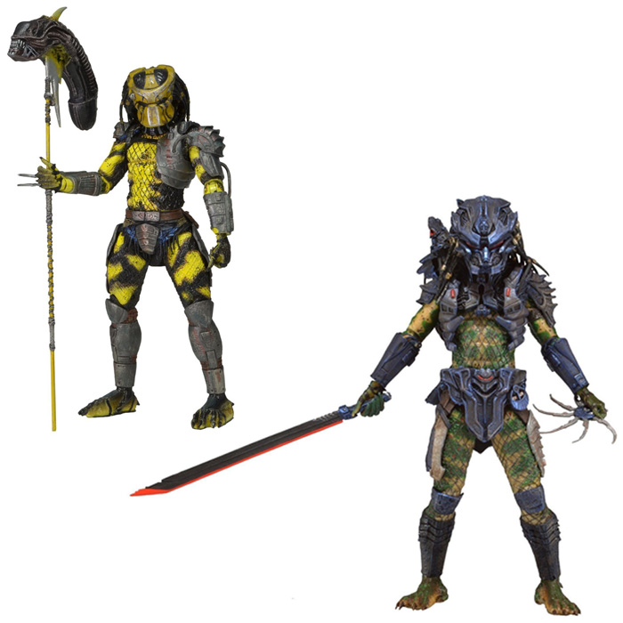 NECA Predator Series 11 Wasp Predator Battle Armor Lost Predator Classic Sci-Fi Movie 18cm Action Figure 7 neca predator 2 lost scout warrior predator pvc action figure collectible model toy 7 18cm