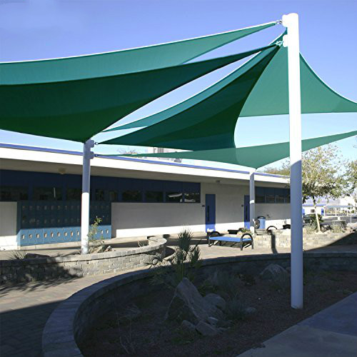 Jinguan Net 98% UV Blocked Square 10u0027x10u0027 Sun Sail Shade Patio Garden  Canopy Top Cover Sand With Free Ropes And Carry Bag In Shade Sails U0026 Nets  From Home ...