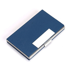 Weduoduo 2019 Aluminum PU Leather Business Credit Card Holder For Women Men Portable ID Name Card Bank Fashion Card holder business style pu aluminum alloy name card holder case silver brown