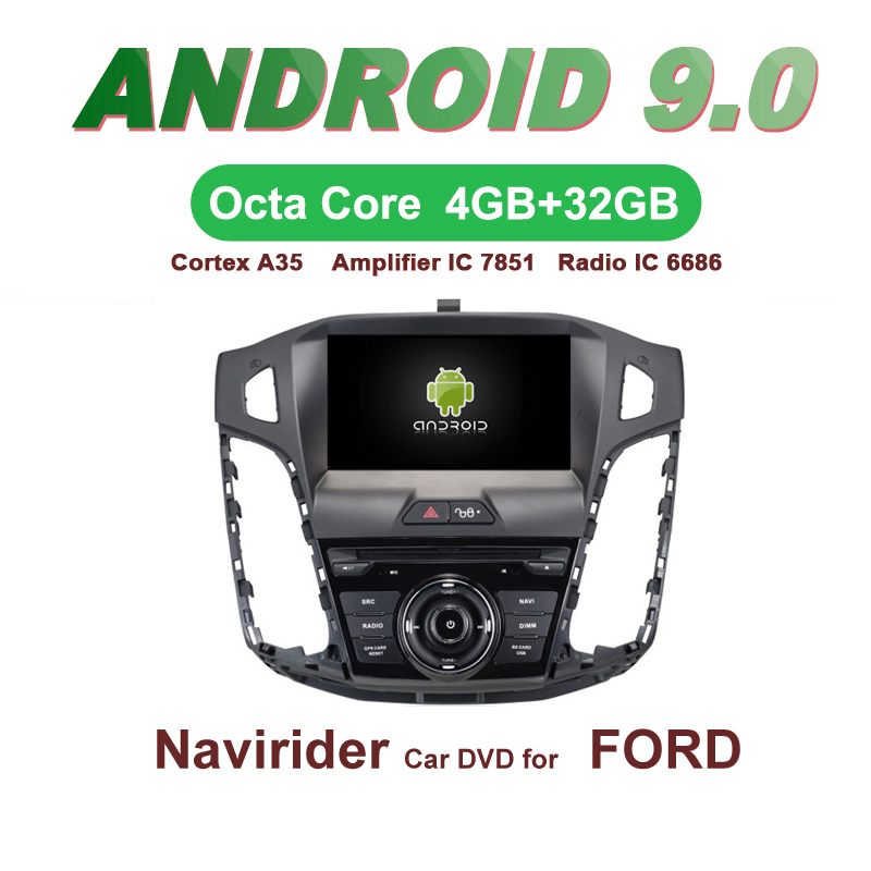 Android 9.0 octa core 4GB RAM car dvd player headunit GPS navigation radio stereo audio tape recorder for Ford Focus 2012 year