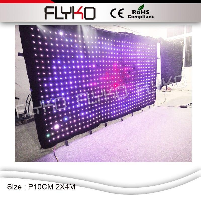 100% Wahr P100mm 2 Mt * 4 Mt Feuerfeste Und Anschließbar Led Vorhang Licht Display Von Flyko In Guangzhou Pc Controller