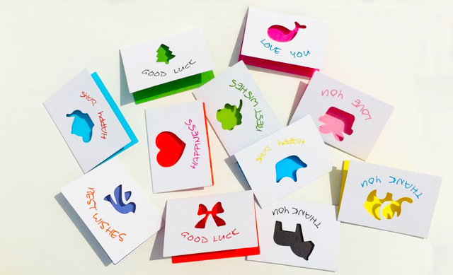 mini greeting cards paper lovely white cute for Birthday Wedding – Birthday Cards Decoration