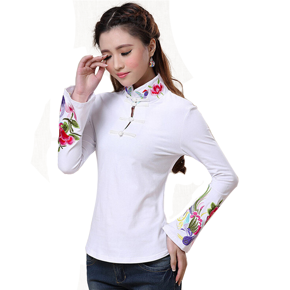 2018 Brand Spring Plus Size Women Blouse Shirt Cotton Fashion Embroidery Blusas Feminina Pullover Quality Body Tops Tee Clothing 3