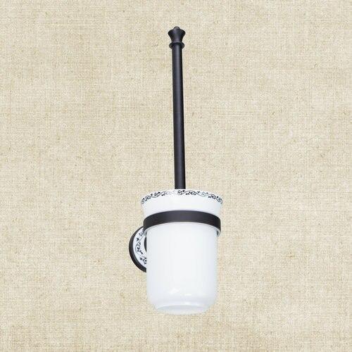 Best Bathroom New Brand Oil Rubbed Black Bronze Wall Mounted Bathroom B5137 Toilet Brush Holders freeshipping wall mount tooth brush holder oil rubbed bronze bath dual cups&tumbler holders
