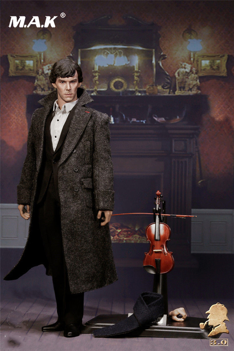 1:6 Scale EX015 British Detective Sherlock Holmes Benedict Cumberbatch Action Figure for Collection dayle a c the adventures of sherlock holmes рассказы на английском языке