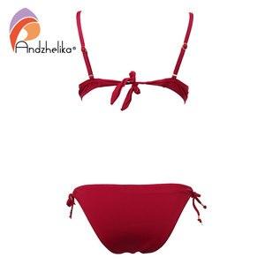 Image 5 - Anadzhelia סקסי תחבושת Push Up ביקיני סט מוצק בגדי ים נשים 2020 קיץ שתי חתיכה בגד ים חוף רחצה חליפת AK5922 2