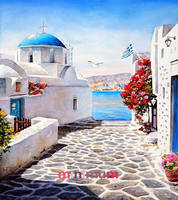 High Quality Gift 5D DIY Diamond Painting Beautiful Watercolor Landscape And Corridor Cross Stitch