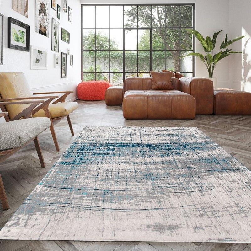 Europe tapis pour salon maison nouveaux tapis pour chambre canapé Table basse tapis de sol nordique épais tapis d'étude et tapis