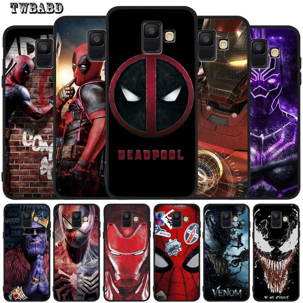 Marvel iron Man Venom Deadpool Spiderman For Coque Samsung Galaxy ...
