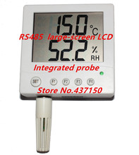 Integrated probe RS485 network LCD LCD large screen thermometer temperature and humidity sensor transmitter STH10 probe