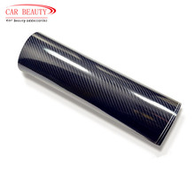 200x50cm Car Sticker High Glossy Black 5D Carbon Fiber Vinyl Wrap Film DIY Car Decorative For Vehicle Motorcycle(China)