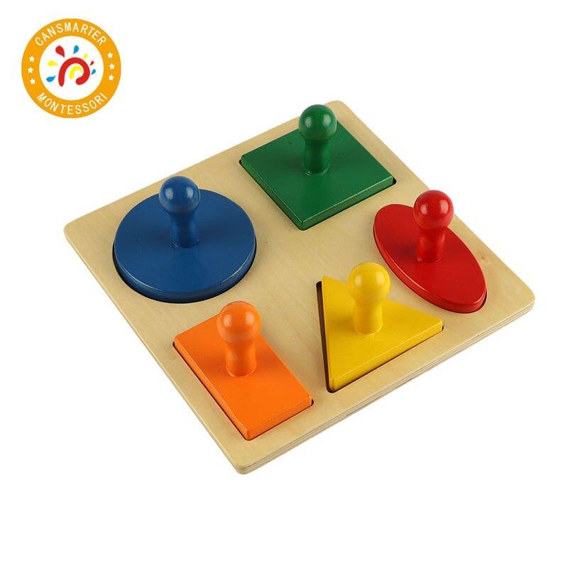 Puzzle en bois Puzzle Montessori jouet éducatif casse-tête garçons Puzzle jeu pour enfants bébé jouet 3d géométrique en bois jouets LT006