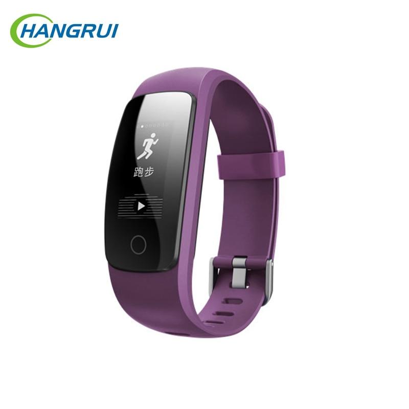 """Hangrui ID107 плюс HR умный Браслет 0,96 """"OLED Цвет Экран Фитнес трекер монитор сердечного ритма IP68 Bluetooth Smart Браслет"""