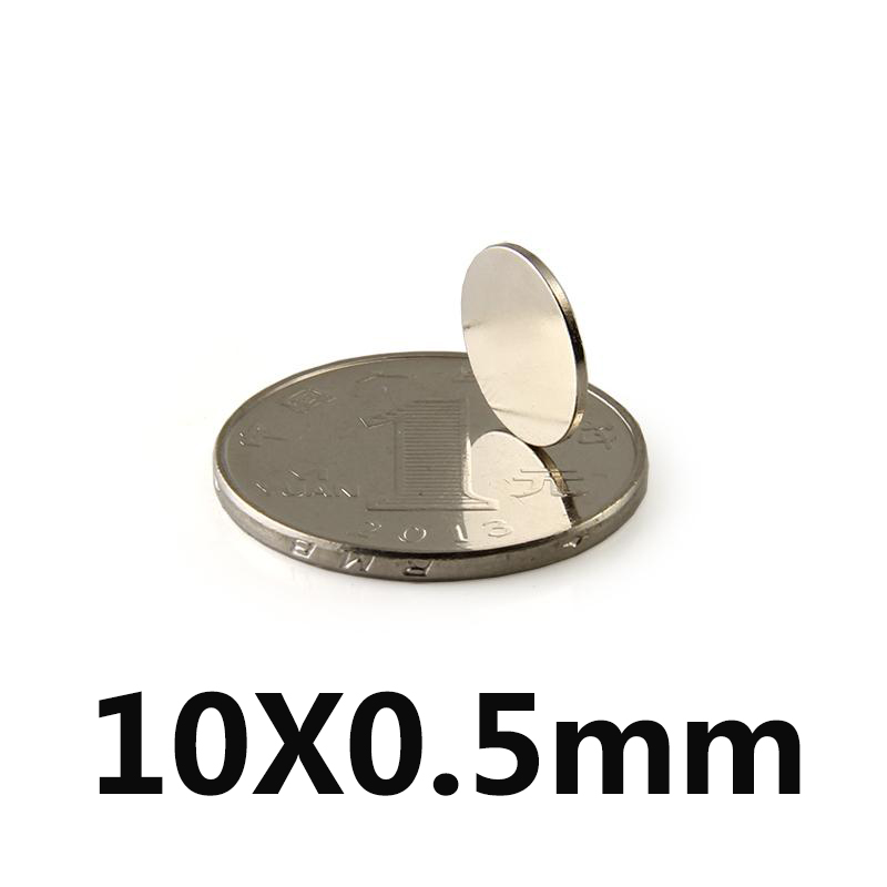 *50pcs 10x0.5 Mm N35 Super Strong Powerful Small Round Rare Earth Neodymium Magnets 10 Mm X 0.5 Mm