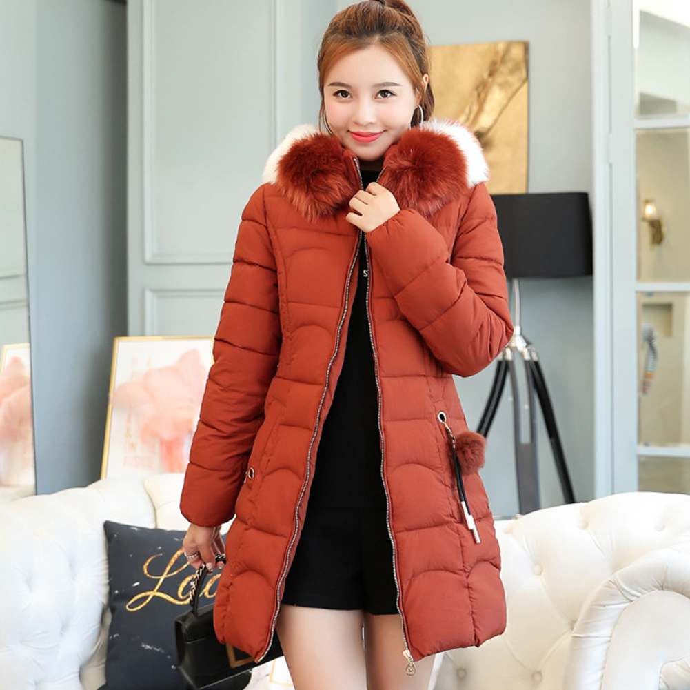 Plus Size Winter Coat Women Korean Slim Hooded   Parka   With Fur Solid Thick Clothing For Female Causal Women   Parka   Winter Coat