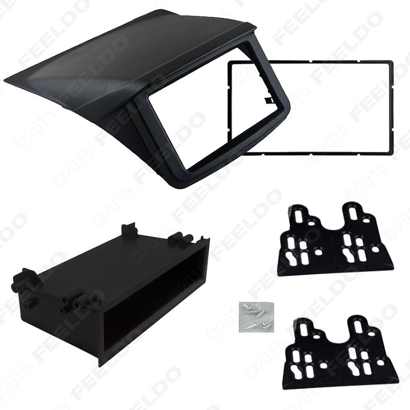 ФОТО 2DIN Installation Trim Kit Face Frame Fascia For Mitsubishi Pajero Sport Triton L200 Radio DVD Stereo Panel Dash Mounting J-1641