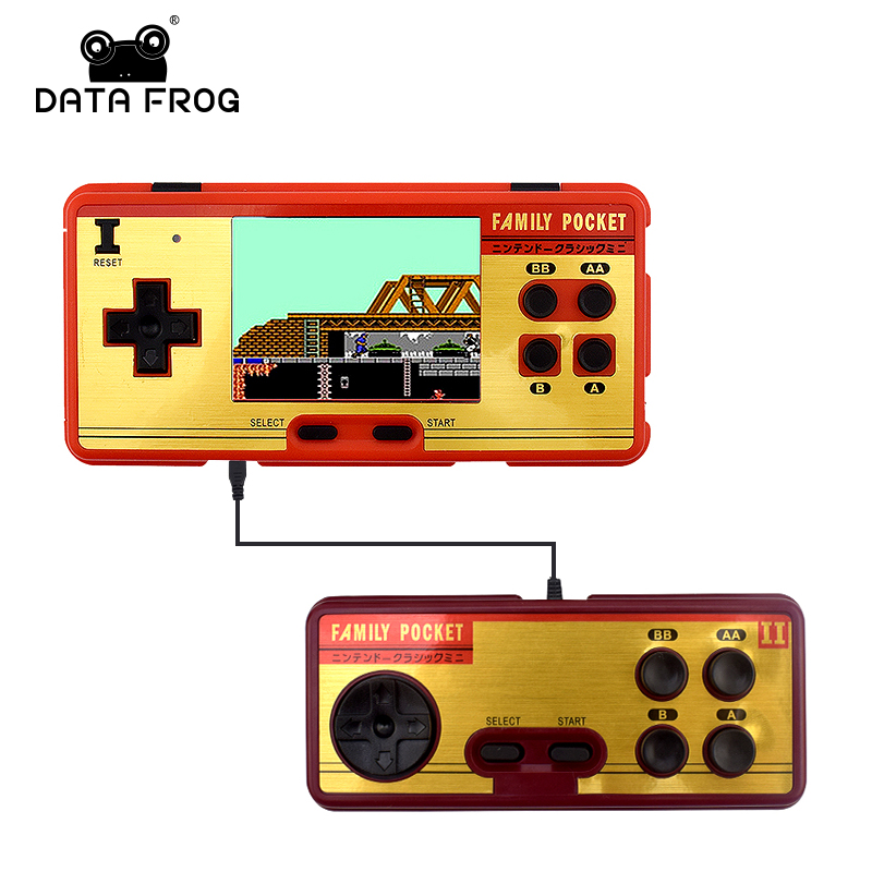 Data Frog Portable Handheld Game Players Built in 638 Classic Games Console 8 Bit Retro Video Game For Gift Support AV Out Put цена 2017