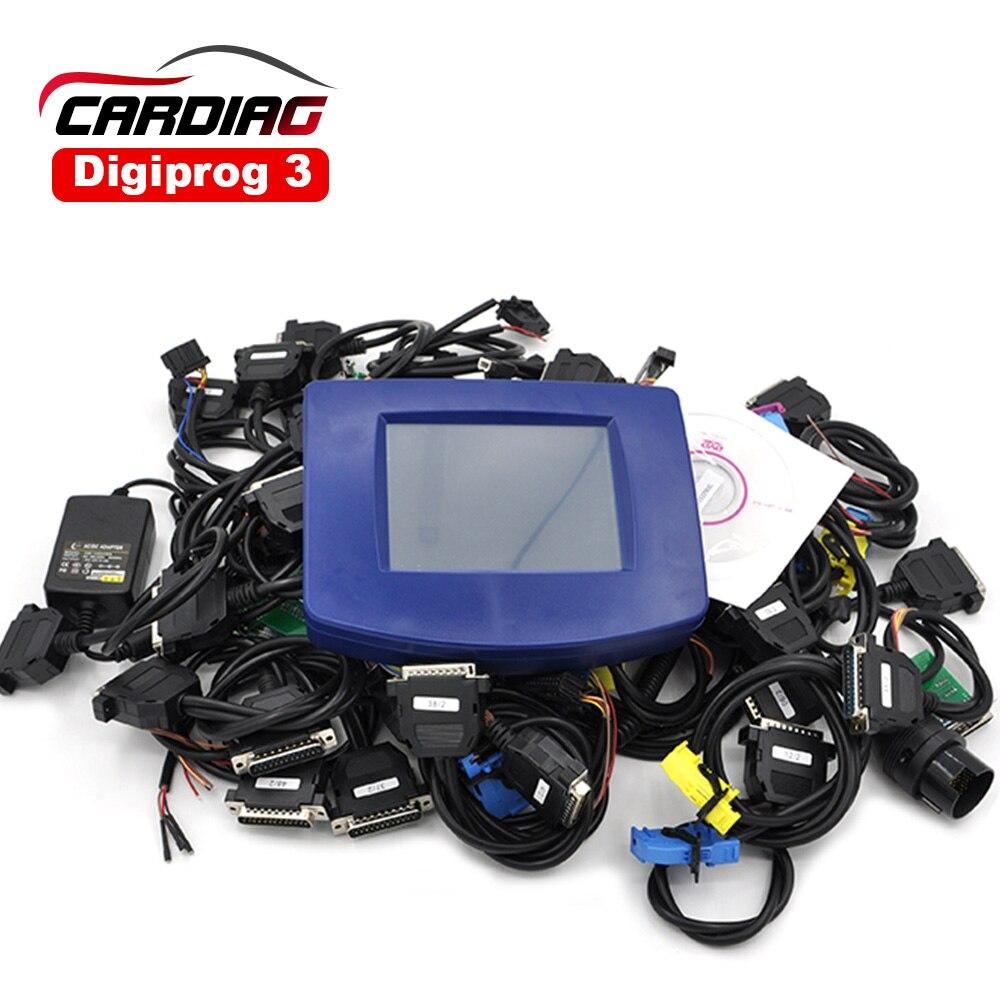 Prix pour DHL livraison Digiprog III avec tous les câbles ensemble complet Digiprog 3 Odomètre Programmeur V4.94 Logiciel Version Kilométrage outil de correction