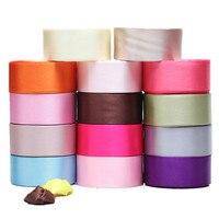 50 yardas 5 cm sola cinta de poliéster embalaje arcos accesorios de ropa al por mayor accesorios de boda de la cinta