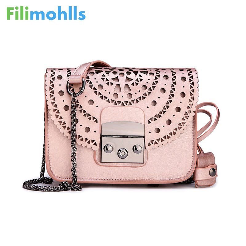 Fashion Women Small Bags Hollow Out Leather Women Crossbody Bag Famous Brand Ladies Messenger Shoulder Bag Clutch Purse S1464