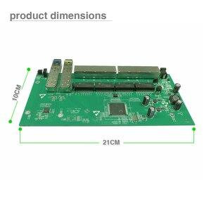 Image 5 - משלוח חינם GPON/EPON ספק פתרון עם VLAN 8 יציאת 10/100/1000M Ethernet הפוך poe מתג עם 2 SFP נמל PCB