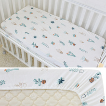 Baby Bed Sheets Pure Cotton Cute Flamingo Crib Sheets Soft Breathable Baby Bed Linen Mattress Cover Infant Fitted Sheet 1Pcs