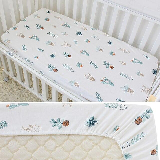 Draps de lit couvre-matelas bébé pur cotons