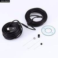 JINGLESZCN USB 9mm Dia 20m Length Endoscope HD Borescope Insepction Camera Lens Waterproof Mirror Snake Video