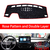 Rose Pattern For BYD QIN pro DM 2018 Dashboard Cover Car Stickers Car Decoration Car Accessories Interior Car Decals