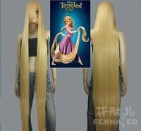150cm Straight Long Hair Princess Tangled Rapunzel Cosplay Wig Yellow Wig Halloween Role Play