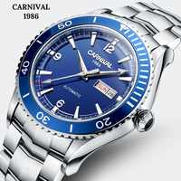CARNIVAL 2018 Professional diving Automatic watch Fashion Sport watch men with Original imported MIYOTA Movement 50m waterproof