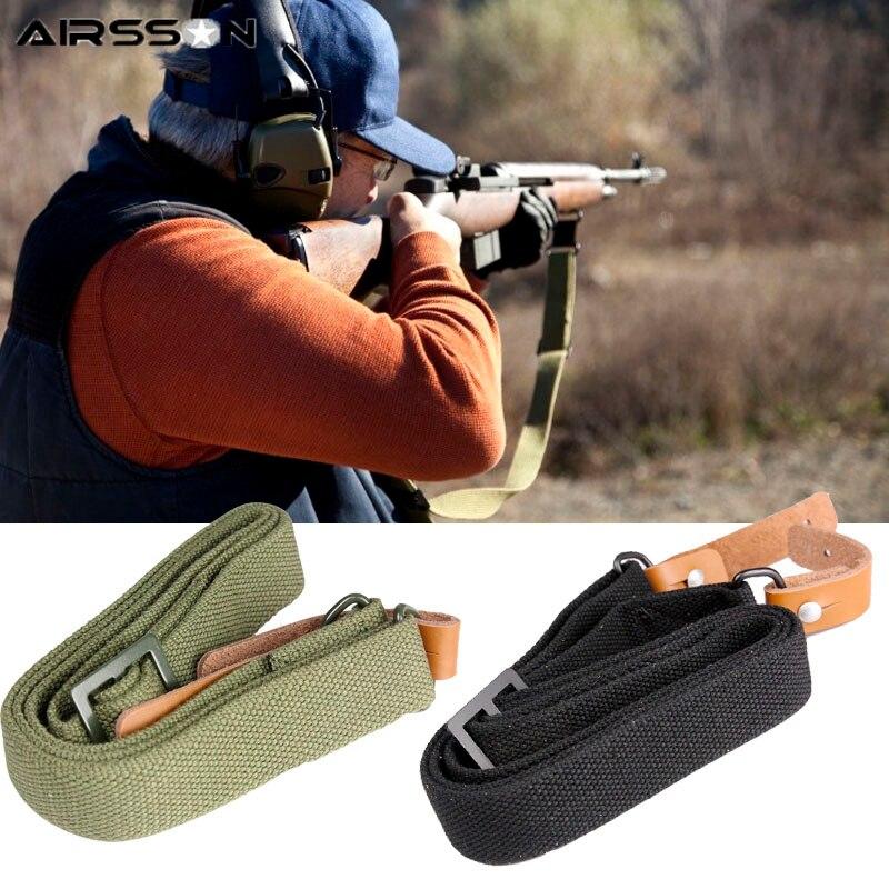 Tactical Adjustable Rifle Sling Gun Strap Bullets Ammo Carry Shoulder Storage