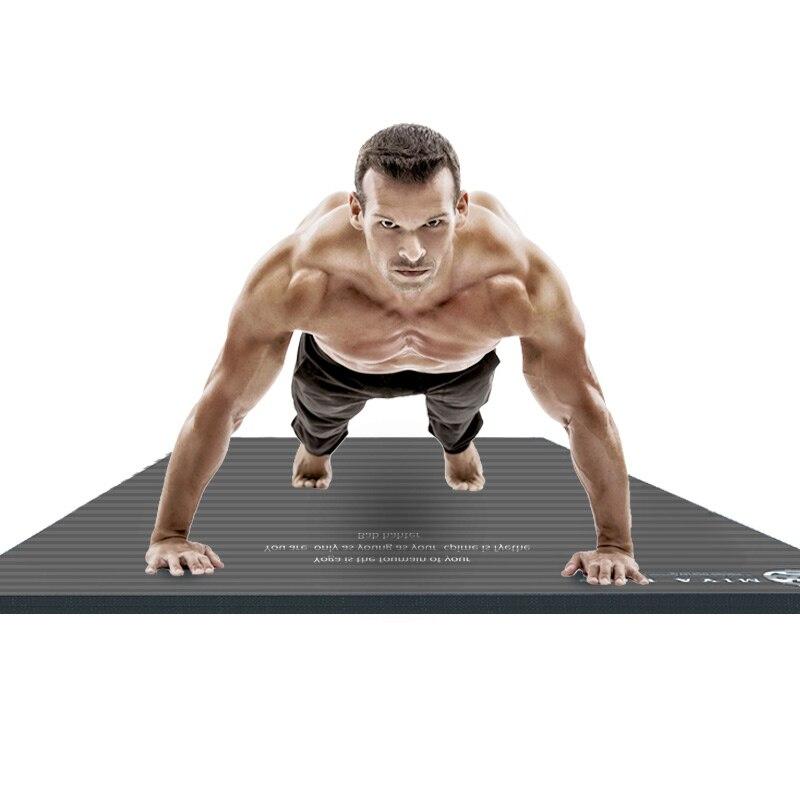 Tapis de Yoga de couleur Pure tapis épais anti-dérapant bleu Rose rouge gris tapis de sport pour hommes