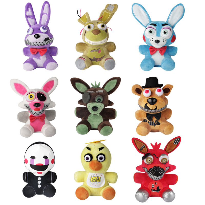 New Arrival Five Nights At Freddy's 4 FNAF Plush Toys 18cm Freddy Bear Foxy Chica Bonnie Plush Stuffed Toys Doll for Kids Gifts wholesale five nights at freddy s 4 fnaf freddy fazbear bear foxy plush toys doll kids birthday gift