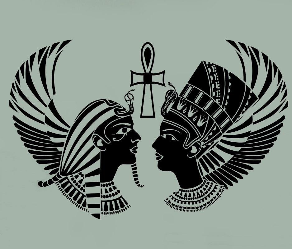 Egyptian Gods Wall Sticker Sphinx Sacred Symbol Pharaoh