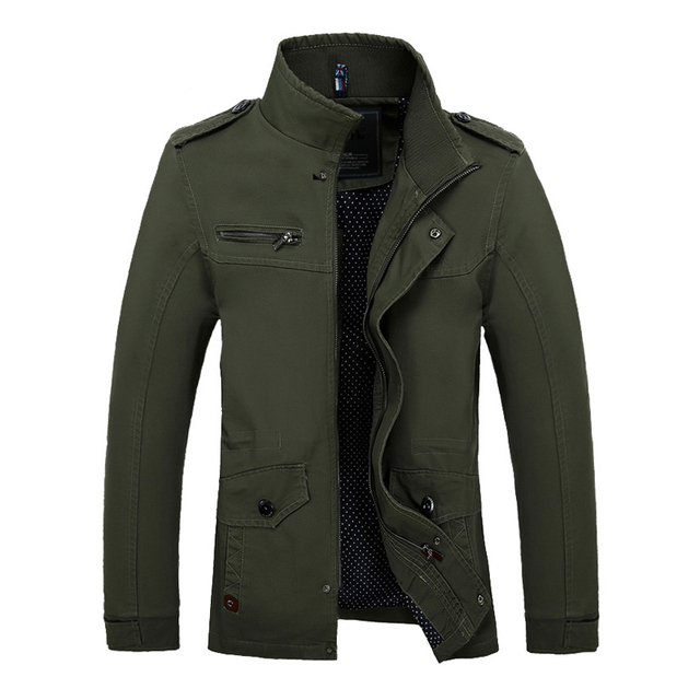 2017 Men Slim Fit Jacket Coats Brand Outerwear Stand Collar Casual Coats Jaqueta  Roupas Masculinas Male Clothes Outdoors  M-4XL