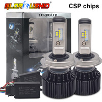 One Pair H4 LED Car Headlight HB2 9003 Hi Lo Beam CSP Chips Auto Car Light