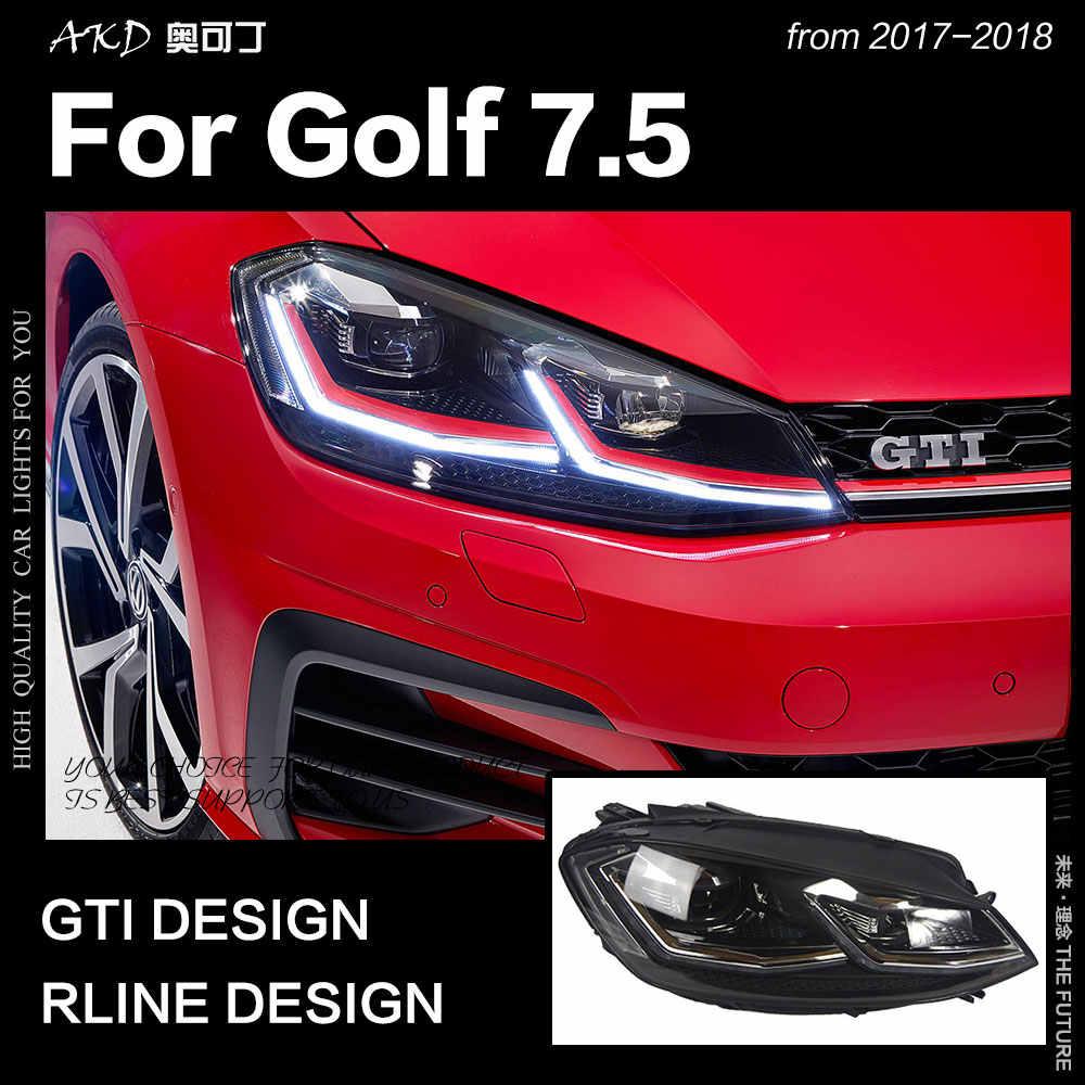 akd car styling for vw golf 7 5 led headlight 2018 new golf 7 headlights drl hid  [ 1000 x 1000 Pixel ]