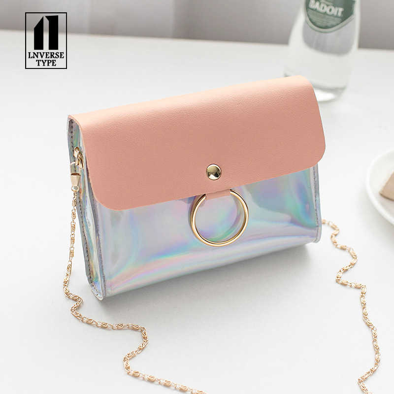 Laser Crossbody Bag For Women Womens Handbags and Purses evening clutch bags Chain Mini Shoulder Bag Circle Small Messenger Bag