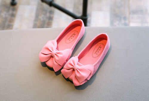 יפה ילדי ילד בנות נסיכת נעלי ילדים בנות קשת אחת נעלי ריקוד נעליים