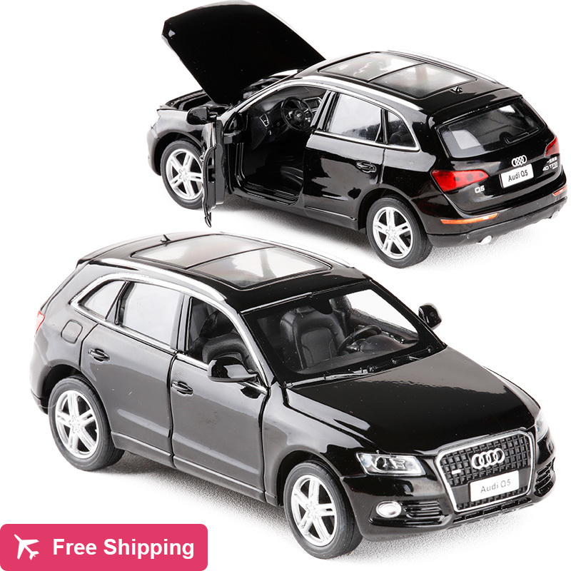 High Simulation 1:32 Audi Q5 Supercar Alloy Diecast Car Model With Pull Back Toy Electronic Car For Kids Gifts Toy Free Shipping