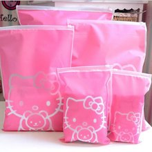 75695ad1d4e1 Hello Kitty Transparent Cosmetic Bag Travel Makeup Case Women Zipper Make Up  Bath Organizer Storage Pouch Toiletry Wash beautKit