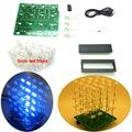 Luz LED DIY KIT azul 3d4X4X4 cubeeds Kit DIY Electrónica