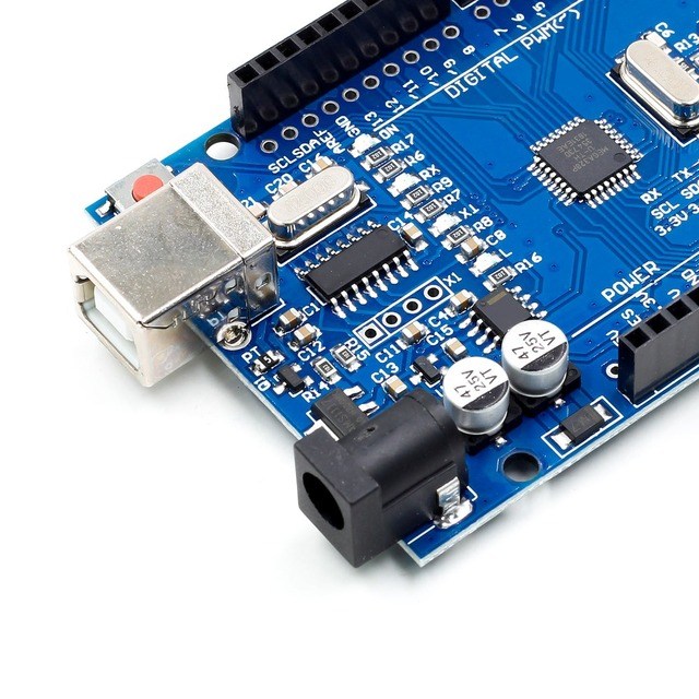 high quality One set UNO R3 CH340G+MEGA328P Chip 16Mhz For Arduino UNO R3 Development board + USB CABLE 1